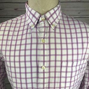 Men's medium J. Crew L/S Purple Plaid shirt